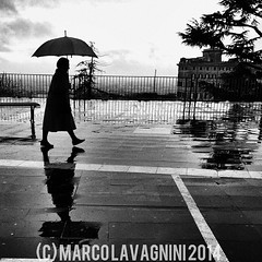 January 24, 2014 at 10:42AM (Follow the New M²) Tags: reflection rain lady umbrella walking silouette belvedere frascati piove picoftheday instagood