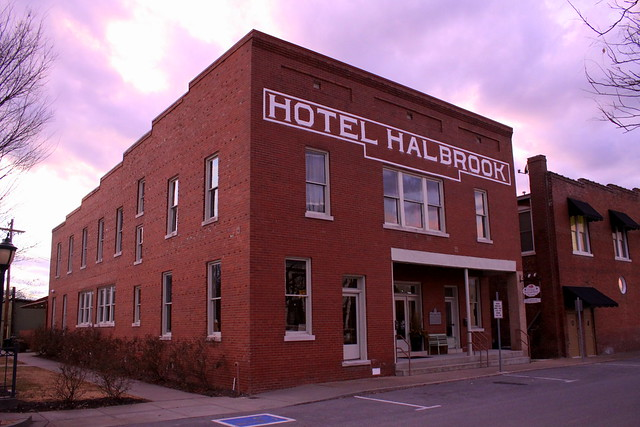 Hotel Halbrook Museum at Dusk - Dickson, TN