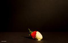 Sweet! (BGDL) Tags: strawberry chocolate tabletop niftyfifty 7daysofshooting nikond7000 bgdl lightroom5 nikkor50mm118g minimalsunday week31sweetandorsour