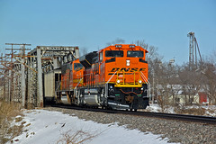 When they are new.. (Machme92) Tags: railroad orange rail trains bn rails coal bnsf railroads emd railfanning railfans sd70mac sd70ace oldmonroe burligrton