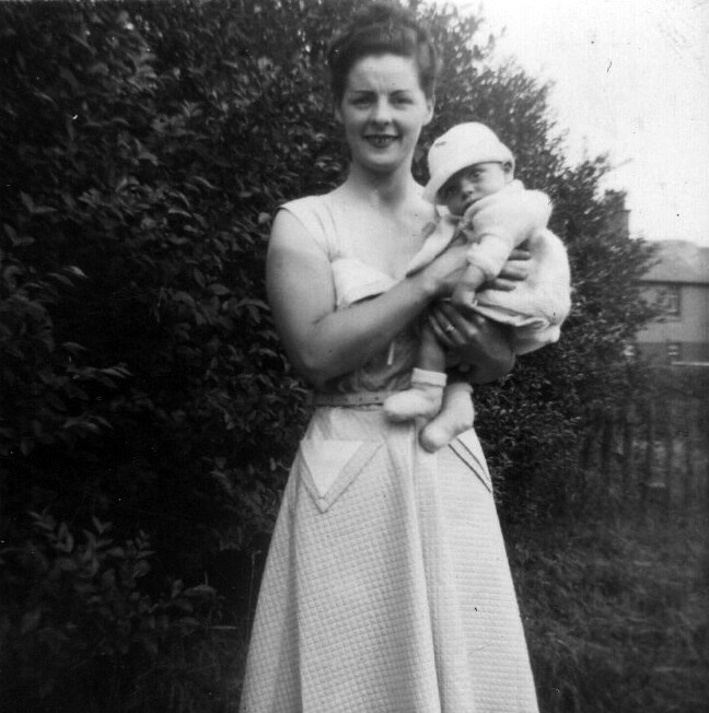 Sadie Reynolds with Colin 1950s
