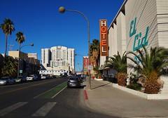 El Cid Hotel (rickele) Tags: hotel downtown lasvegas vacant neonsign bikelane elcid ghostsign bicyclelane defunct steelsign