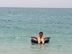 Dobberen in zee