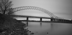 Runcorn Bridge - Long Exposure (jeffbwood79) Tags: longexposure bridge river cheshire mersey runcorn runcornbridge