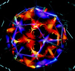 Electric storm (Andy Coe) Tags: light abstract art reflections painting lights colours sony mirrors balls kaleidoscope sphere alpha rgb a77