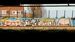 Graffiti (oerendhard1) Tags: urban streetart art graffiti rotterdam vandalism yoghurt ome willem narcoze