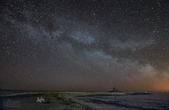 The MilkyWay from Lindisfarne (The Best Chair on the Island) (solidtext) Tags: longexposure castle night photography nikon exposure nightlights nightshot northumberland astrophotography astronomy nightscene milky f28 holyisland lindisfarne highiso astronomical lowlights milkyway earthandspace noctography astrotrac d7000 tokina1116f28 nikond7000 noctographist