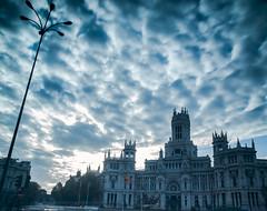 Palacio de telecomunicaciones - Madrid (Pedro Herrero) Tags: madrid longexposure blue espaa azul spain long exposure led larga exposicin diurna largaexposicindiurna