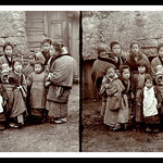 COUNTRY KIDS of OLD JAPAN -- A Variant 3-D Image Scanned from an Original, Un-Mounted Contact Print thumbnail