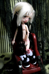 Meiko is a sensual warrior (Vali.Tox.Doll) Tags: mystery doll panda circus makeup elf wig bjd kane monique vali nefer