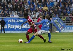 Entrada de Erice sobre Dani (Dawlad Ast) Tags: b real 1 jon soccer abril asturias carlos dani grupo oviedo futbol sporting gijon nuevo ndi erice segunda 2014 tartiere