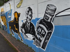 Birmingham graffiti art opposite The Bond - Grand Union Canal (Digbeth Branch) - Digbeth - HP Sauce (ell brown) Tags: grandunioncanal canals warwickbirminghamcanal greatbarrst digbeth birmingham westmidlands england unitedkingdom greatbritain towpath graffiti streetart hpsauce bullringbull libraryofbirmingham paulhirst graffiti4hire grandunioncanaldigbethbranch