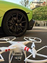Aventador & DJI Phantom 2 Vision+ drone (DoctaM3) Tags: 2 vision phantom lamborghini 50thanniversary roadster anniversario avenger dji aventador