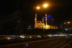 P1000469b - Mosque at night (JB Fotofan) Tags: street night lumix traffic nacht istanbul mosque panasonic verkehr moschee atasehir fz1000 çami mimarsinançami