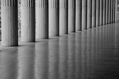 Reflective moments     *Explore* (sarah_presh) Tags: monochrome architecture mono columns athens greece agora ancientagoramuseum nikond7100