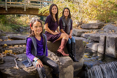 Family Portraits (Full Aperture Productions Inc.) Tags: park family friends fall water kids portraits children mom waterfall daughter mother mum
