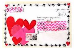 Valentine Mail Art (born 2 b creative) Tags: heart handmade craft valentine doodle envelope postal mailart valentinesday snailmail papercraft decoupage