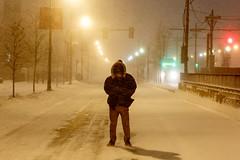 Braving the Snow (zfox23) Tags: snow storm boston university huntington snowstorm avenue northeastern
