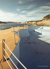 Sant Elm Low Season (Khris72) Tags: blue vacation lines vintage season spain low rope mallorca emptiness