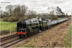 9f 92214 , Woodthorpe on a Freight , GCR Steam Gala ,31-1-2015 (Bri Hall) Tags: steam greatcentralrailway gcr woodthorpe 9f 92214