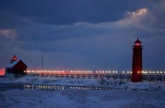 And later yet (rkramer62) Tags: winter lighthouse lakemichigan grandhavenstatepark puremichigan rkramer62 icecoveredpier