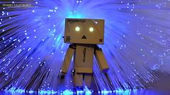 Danbo Lightburst (AreKev) Tags: blue light lamp amazon nikon colours action bokeh explosion mini figure fiber eruption fiberoptic optic yotsuba hss danbo lightburst revoltech d7100 danboard 35mmf18g nikond7100