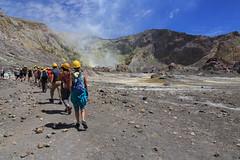 Walking toward the main vent (Doc. Di0) Tags: new newzealand white toxic danger canon island volcano smoke adventure explore zealand crater active fume whiteisland activevolcano canon5dmk3 5dmk3