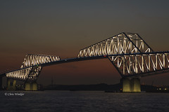 Tokyo Gate Bridge  (Alpha 2008) Tags: bridge sunset sea japan night landscape tokyo sony  alpha       autofocus        tokyogatebridge