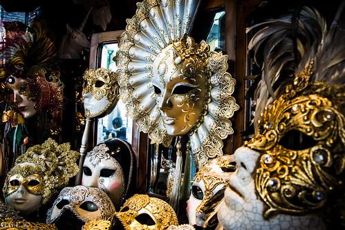 Maschere Veneziane. Venezia. Paura o Gioco.