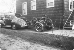 Hod's Rig, Harland Krause's car and hill climber (hondagl1800) Tags: usa wisconsin classiccar motorcycle vintagemotorcycle indianmotorcycle beloitwisconsin harlandkrause