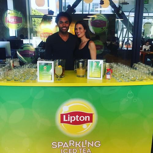 It's time for a #FlavorBreak! #Lipton Sparkling Iced Tea activation today! #events #eventlife #bartenders #staffing #santamonica #bmfmedia #wework #girlboss #lipton #mixology #200ProofLA #200Proof