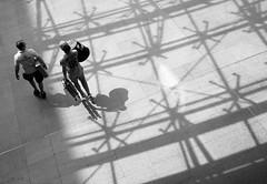 pattern (Georgie Pauwels) Tags: street people blackandwhite sunlight public monochrome pattern shadows streetphotography olympus