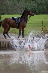Somerford Park Eventing (wiganworryer) Tags: park 2 horse fall water animal sport canon lens photography is photo jump jumping image zoom outdoor mark picture keith event riding ii 200 7d l series splash gibson 70 f28 mk equine horseriding 2016 eventing somerford wiganworryer