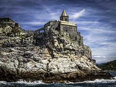 San Pietro from the Sea (keith_shuley) Tags: italy church sanpietro portovenere mediteranean olympusomdem1