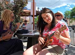 Music Mile Weekend (Sherlock77 (James)) Tags: people woman calgary ukulele musicmile