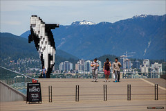 The Mod Squad (Clayton Perry Photoworks) Tags: people canada art vancouver spring bc pixel whale douglascoupland conventioncentre northvancouverskyline dailyhivevan