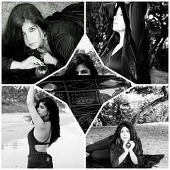 Ensaio - Frozen (AmandaSaldanha) Tags: blackandwhite woman praia beach nature girl dark ensaio book natureza mulher gothic mystic whiteandblack