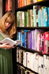Day 109, Year 9. (evilibby) Tags: reading book books bookshelf read livingroom libby 365 365days 3659 365days9
