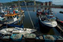 Swansea Bay Fishing Harbour.... (Dafydd Penguin) Tags: sea west swansea wales port marina bay coast harbor boat fishing dock nikon ship harbour vessel coastal 20mm af nikkor nets vessels d600 f28d