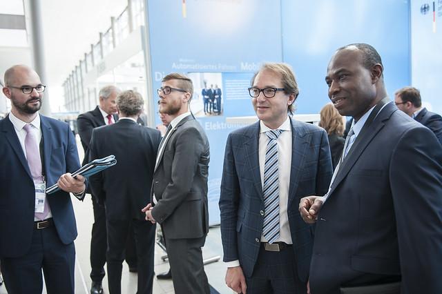 Alexander Dobrindt and Dr. Edward Adusei during exhibit visit