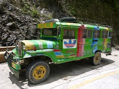Philippines, May 2016 (Yekkes) Tags: green truck advertising asia philippines transport adidas banaue fareast jeepney luzon northluzon