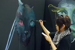 Live Painting Artist (Design Festa) Tags: art japan painting japanese tokyo artwork drawing picture tokyobigsight artfestival livepainting japanartfestival japaneseartfestival