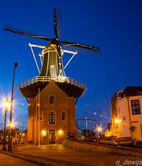 Molen de Adriaan (Arjan de Wijs) Tags: road street city holland haarlem netherlands windmill dutch architecture night lanterns longexsposure rjdewijs