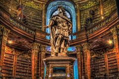 sterreichische Nationalbibliothek (t_aris) Tags: vienna wien travel statue austria library sony sigma hdr 30mm photomatrix a5000 sonyalpha mirrorless emount