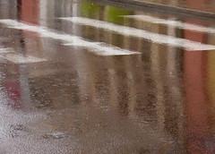 Des pavs sur la mare (CcileAF) Tags: street city abstract colour rain canon reflections town