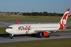 Air Canada Rouge Boeing 767-333(ER)(WL) (gdd814) Tags: calgary airport nikon aviation boeing spotting airliner 767 yyc widebody aircanada staralliance 55200mm 767300er b763 cyyc cfmxc 767333er d3300 aircanadarouge