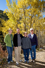 20091009_Aspen_Vista_Trail_0008.jpg (Ryan and Shannon Gutenkunst) Tags: family trees usa santafe hiking hike nm aspen cowboyhat aspenvistatrail ryangutenkunst shannongutenkunst barbgutenkunst randygutenkunst