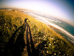 6:30am cycling (Luis Marina) Tags: sea sunrise mar surf dune wave bici cantabria dunas liencres gopro fatbike fatbiking