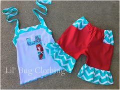 Ariel (Lil' Bug Clothing) Tags: ariel short chevron halter
