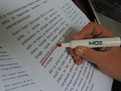 SEO content with MOZ (Neparno 10) Tags: red paper notes write writting optimization moz seo underline optimizacija